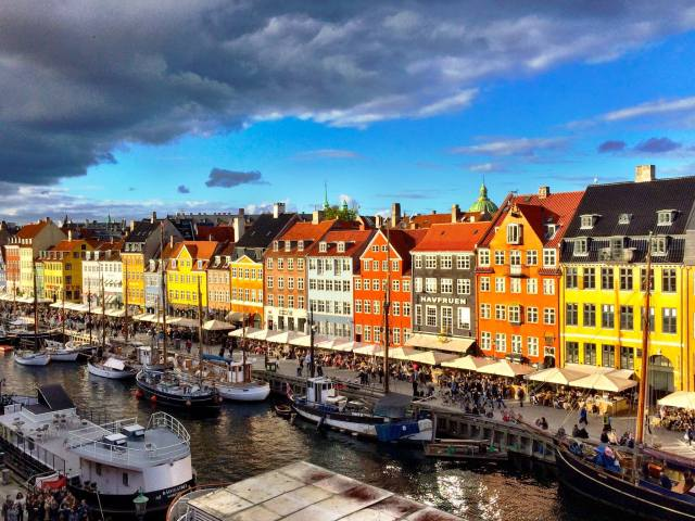 The view of Nyhavn from my hotel. Picture perfect Copenhagen.
