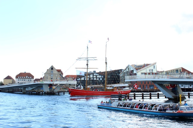 The port of Copenhagen and the unfinished pedestrian bridge. Once complete, it'll make getting around the city even easier!
