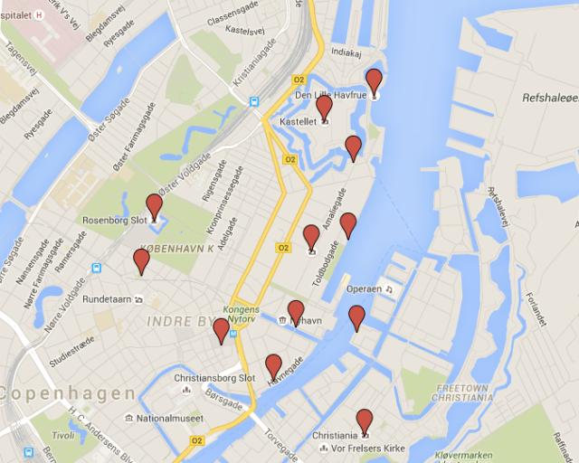 Map for Copenhagen