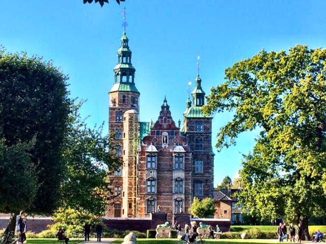 Rosenborg Castle next to the King's Garden.