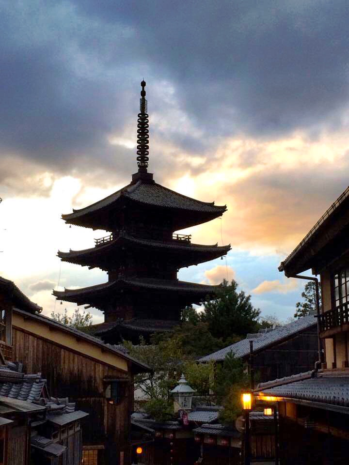 Head back out and wander down the streets to Yasaka Pagoda. If you get a bit lost, don't worry. The pagoda is hard to miss, so just keep heading towards it.