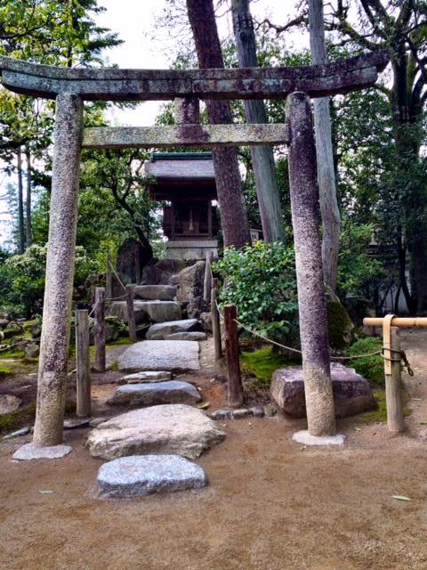 A small shrine on the grounds of Ginkaku-ji.
